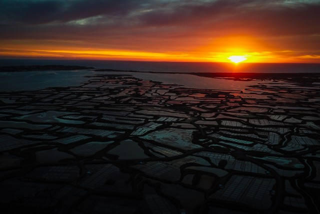 Sunset over Guerande