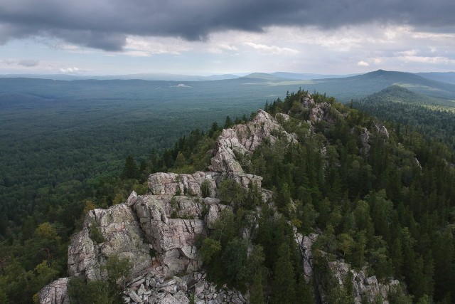 Ural Mountain Aleksandrovskaya hill. Russia, Middle Ural