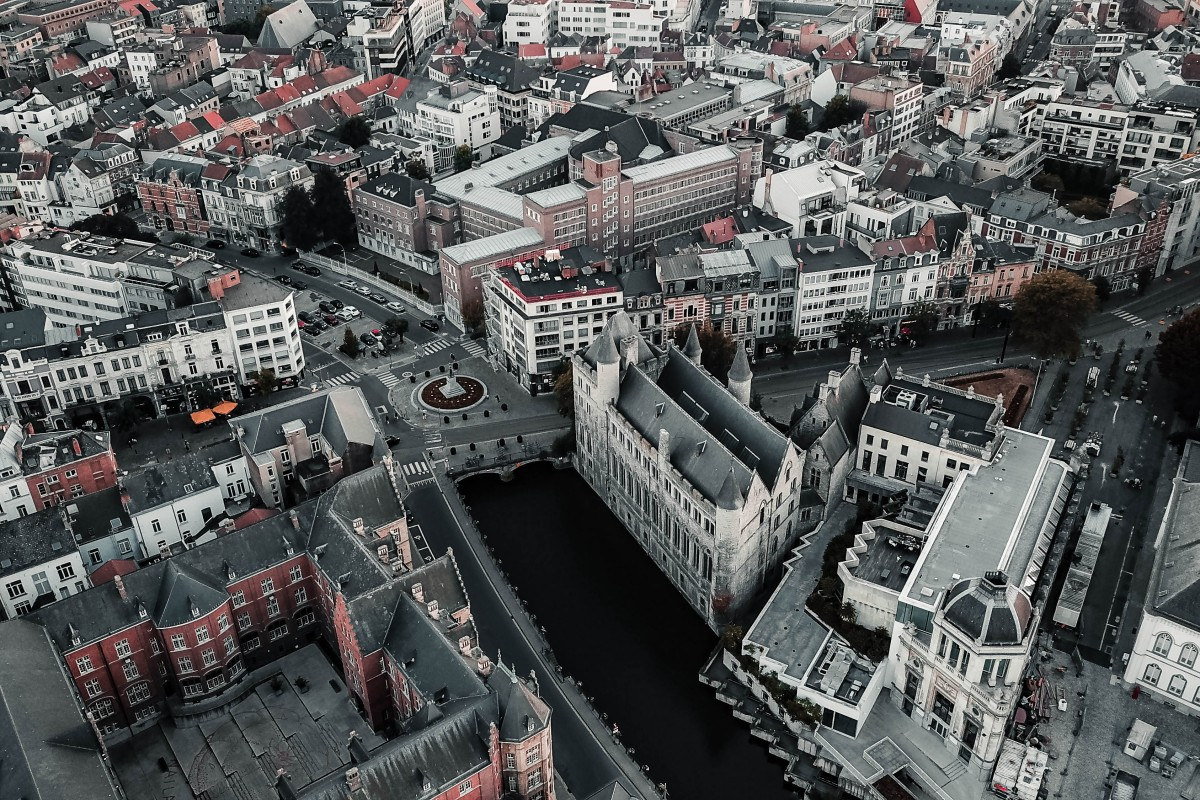 Stunning ancient city shot by @dronefilmingbelgium