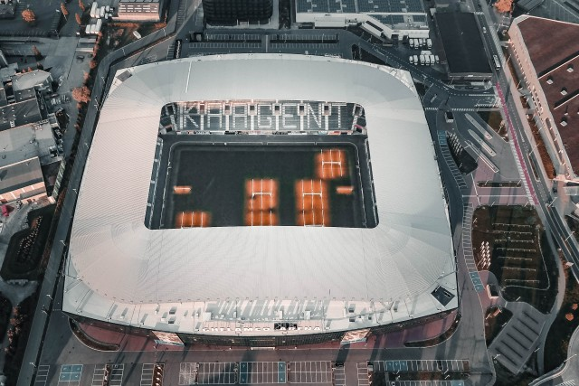 Incredible Arena shot by @dronefilmingbelgium