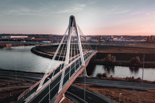 Incredible bridge shot by @dronefilmingbelgium