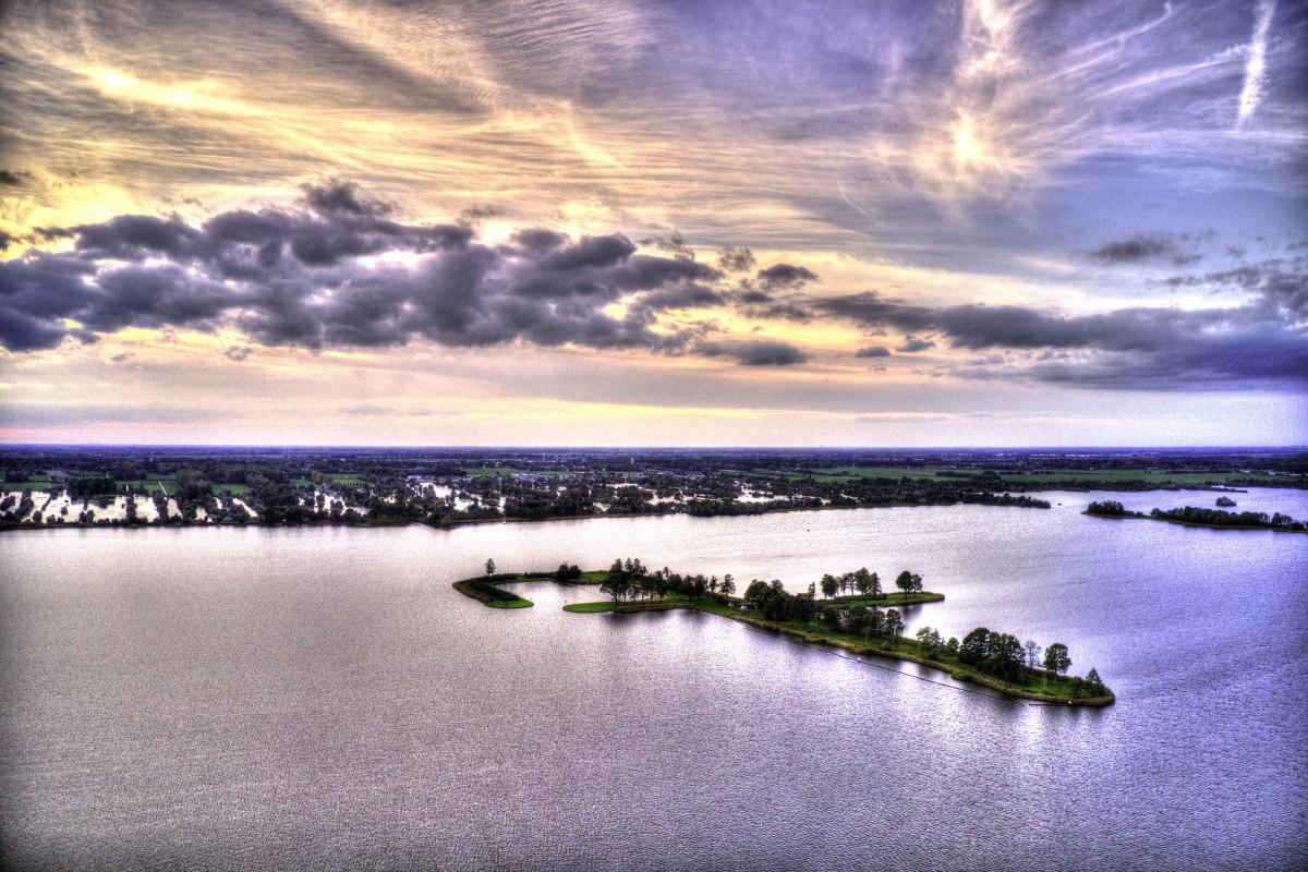 Island Meent at Loosdrechtsche Plassen Surreal Sunset