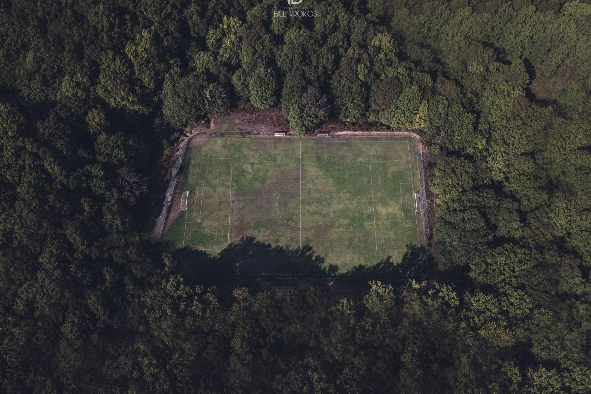 Soccer in the forest