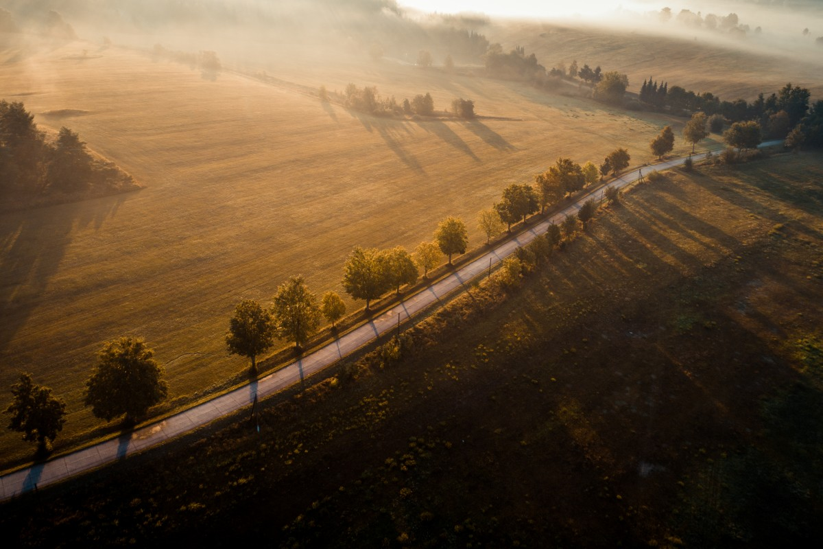 Sunrise in the country of South Bohemia / Czech republic