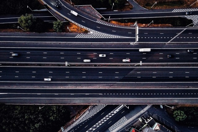 Incredible shot of a highway by @dronefilmingbelgium