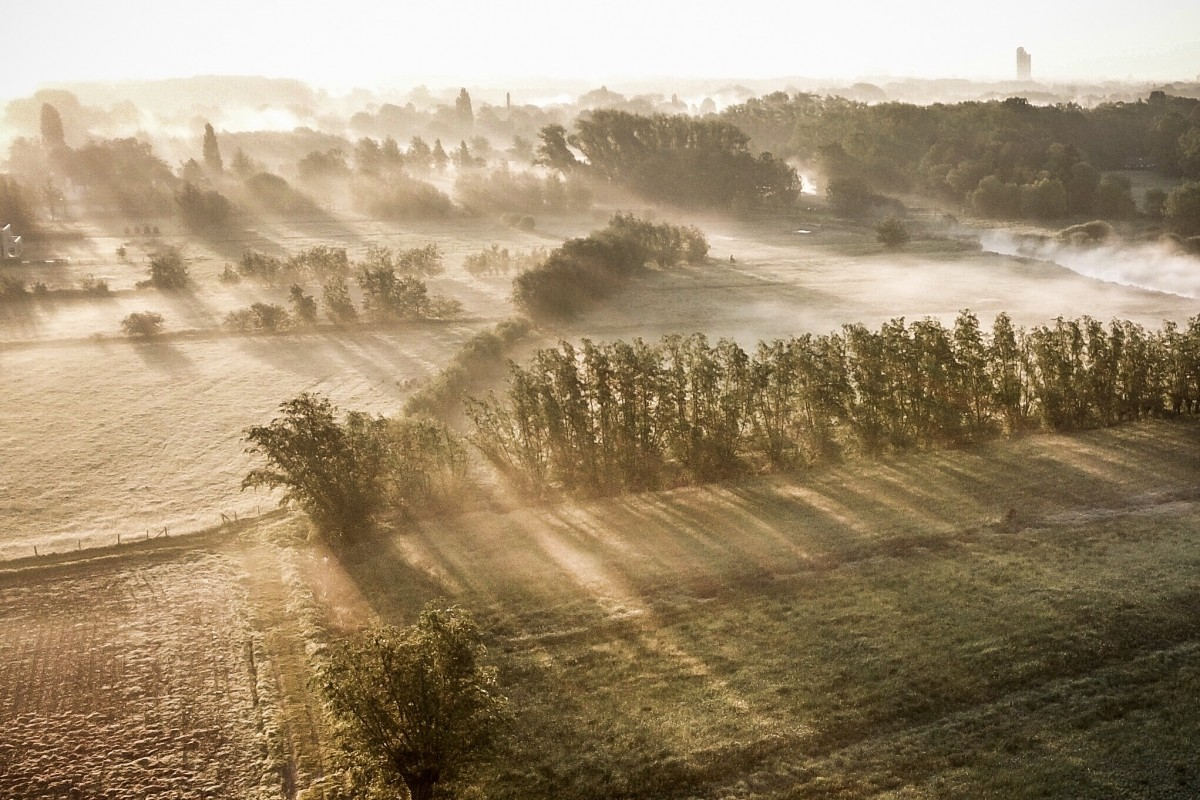 Foggy early morning shot by @dronefilmingbelgium