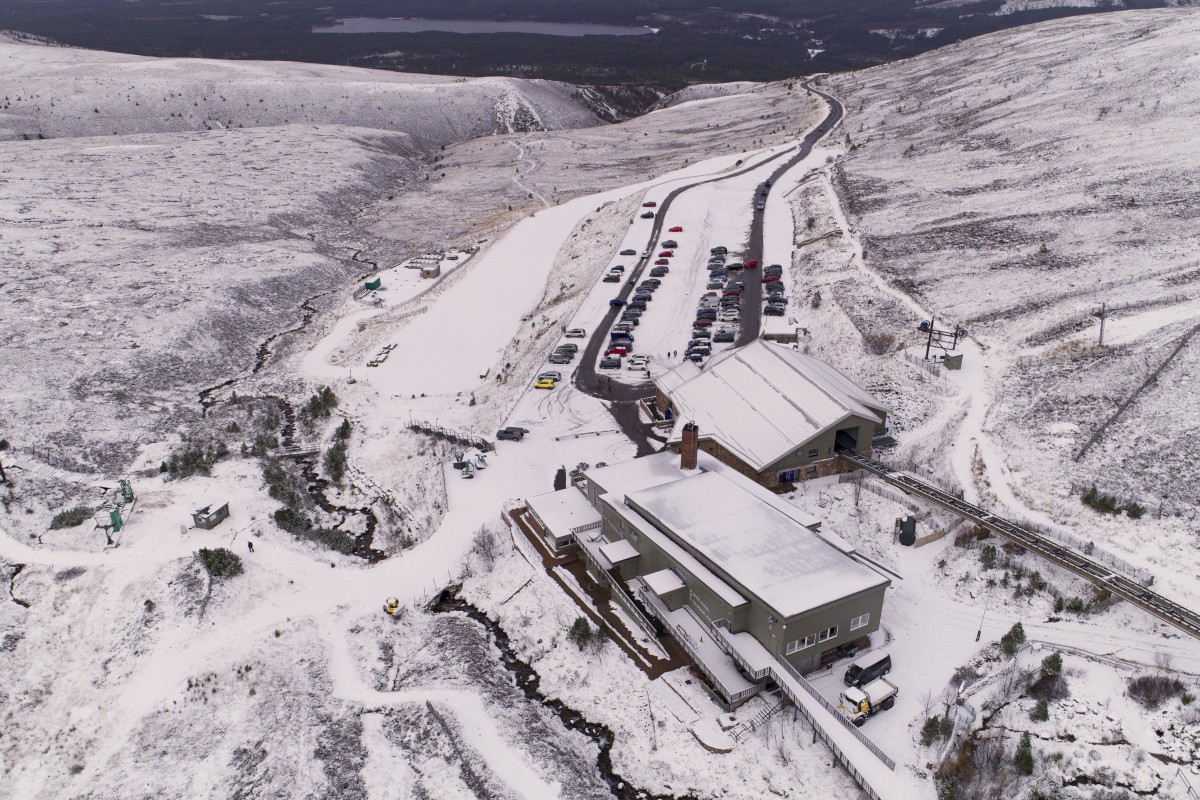 Cairngorm Mountain Natural Retreats aerial image Aaron Sneddon