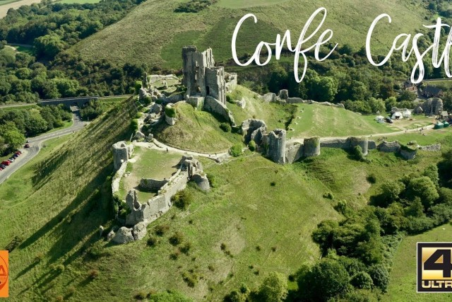 Corfe Castle – Mavic 2 Pro DLOG M with DJI LUT