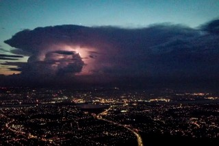 Flying a Drone Towards a Storm