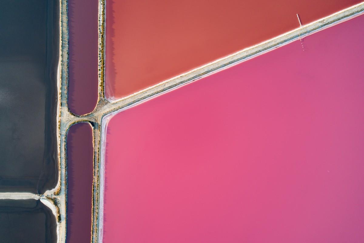 Salt ponds in Salinas D'Aigues-Mortes