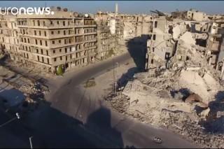 Shocking drone footage shows Aleppo destruction