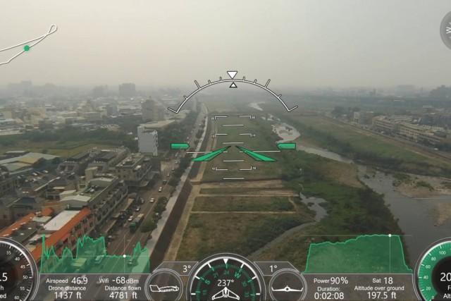 parrot disco 試飛  OSD OBD GPS 像在開飛機 玩遊戲