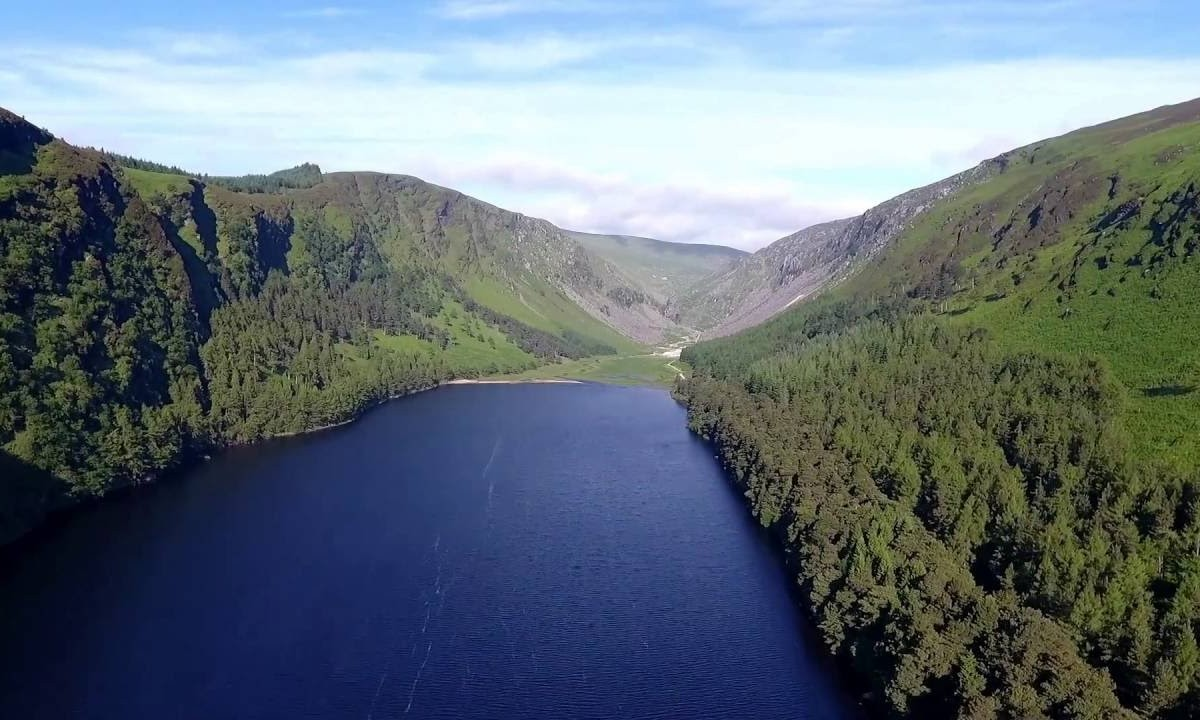 Drone Video of Glendalough in Wicklow, Ireland