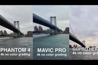 DJi MAVIC vs. PHANTOM 4 vs. GOPRO KARMA side by side comparison in 4k