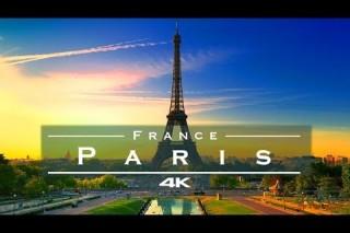 Paris, France – by drone [4K]