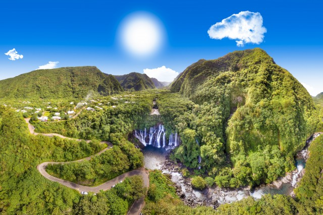 Reunion Island, waterfall