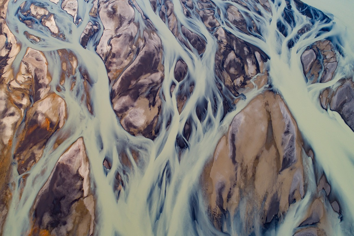 Flow of Glacial River
