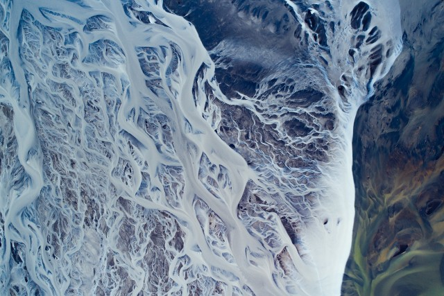 Glacial river flow
