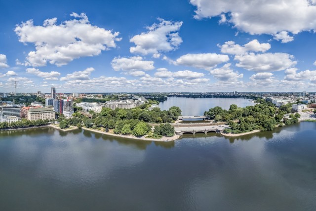 Hamburg Alster Lake HDR Panorama