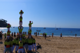 Castells on the beach