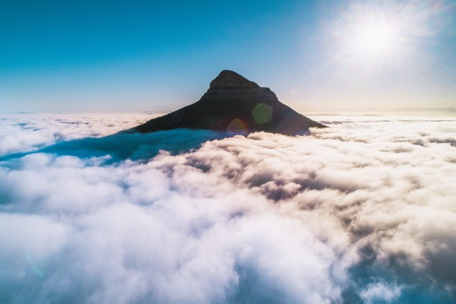 The Lion Above the Clouds