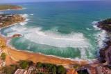 Stormy sea in La Fosca