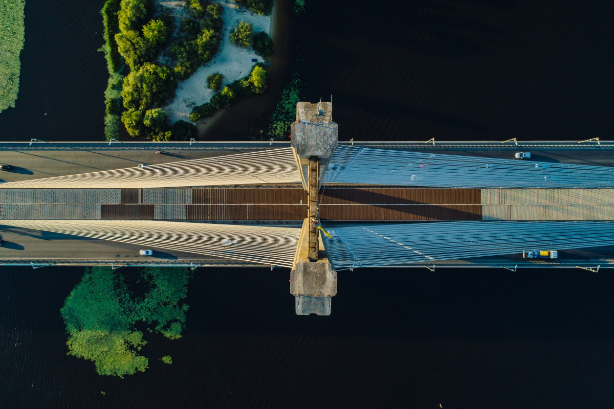 Top view of the south bridge