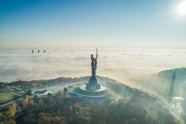 The Motherland monument. Kyiv