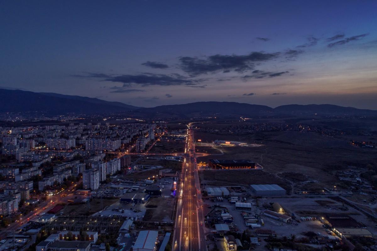 Night over Sofia