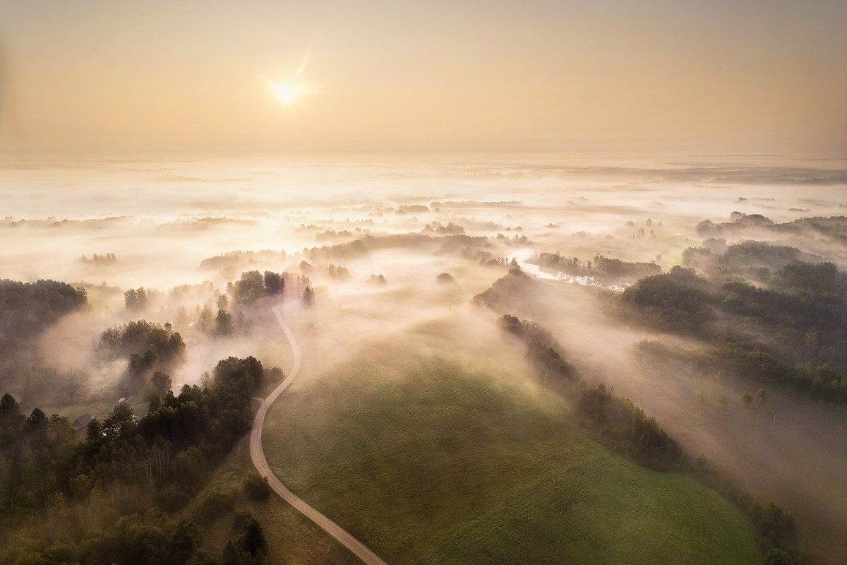 Mist in Lithuania