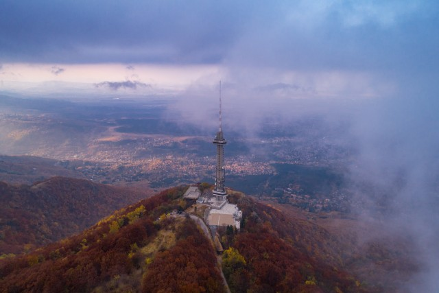 The TV tower surrounded by the magic of Autumn