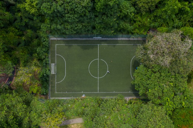 The enchanted soccer field