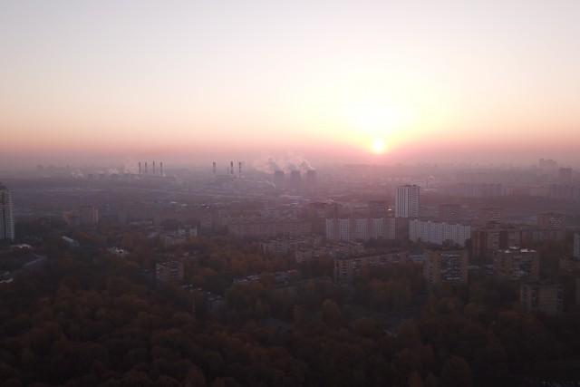 Sunrise over Khimki