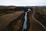 The canyon of the Hvítá river