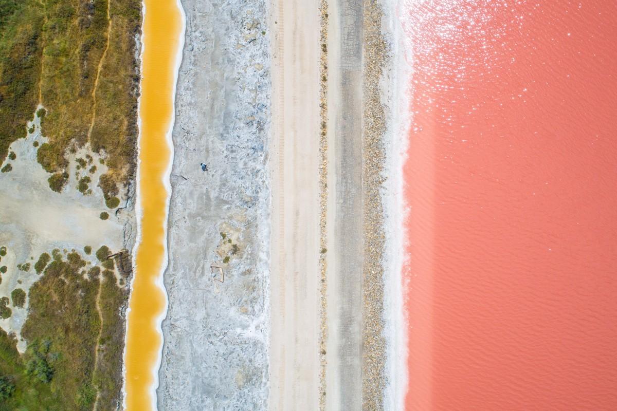 Pink lakes