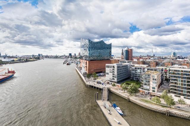 Hamburg Elbphilharmonie Aerial View HDR Panorama