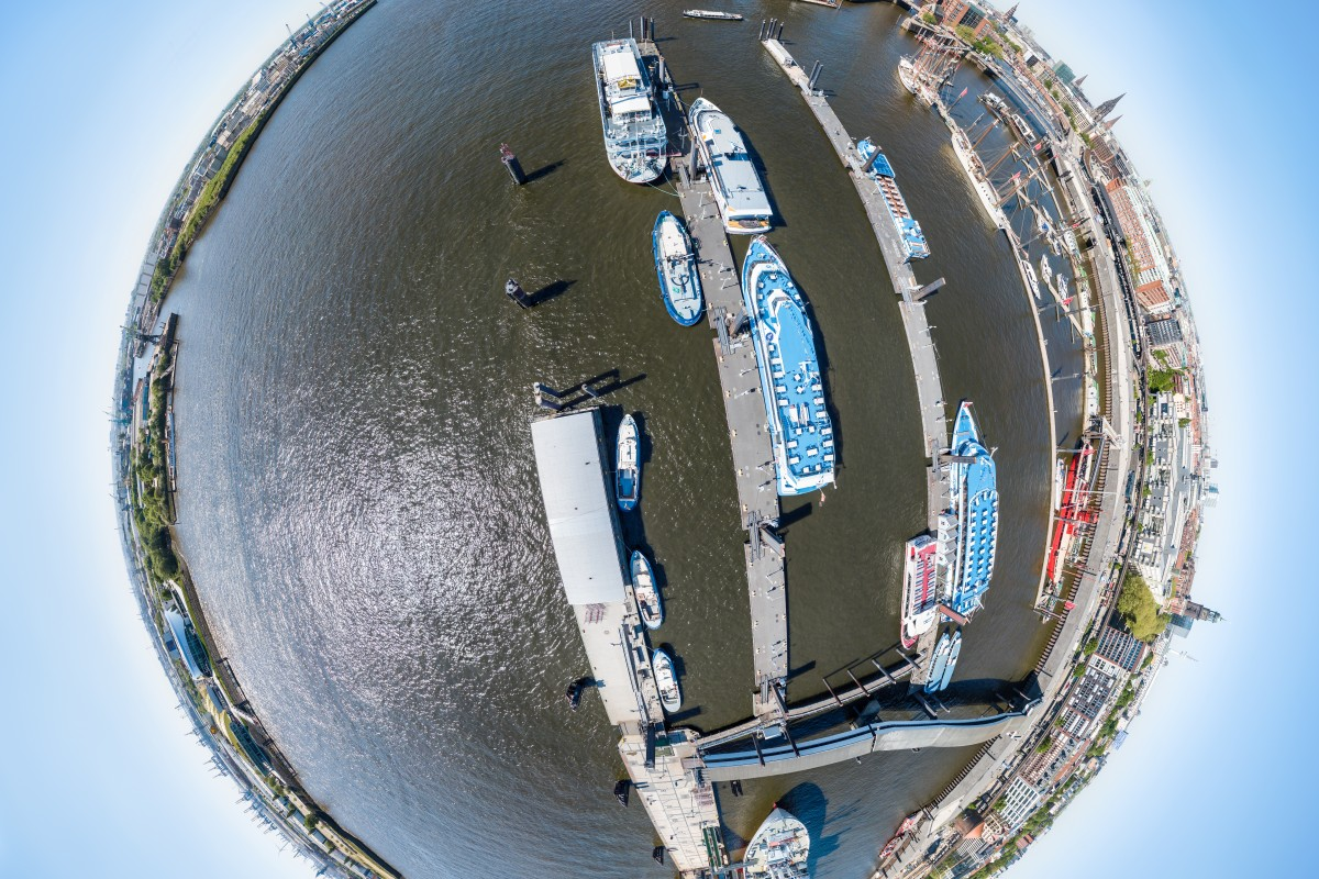 Hamburg Harbor Little planet