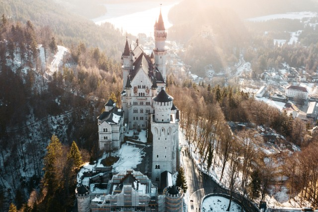 Neuschwanstein Castle during Sunset