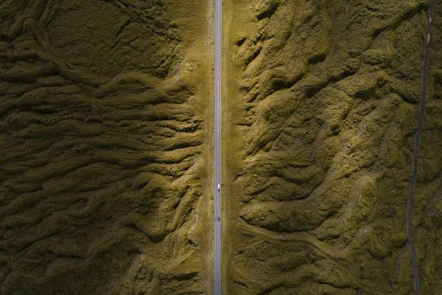 Lava field flow