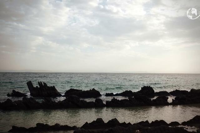 BEACH OF BOLONIA IN CADIZ SPAIN