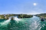 Rhine Falls Aerial HDR Panorama