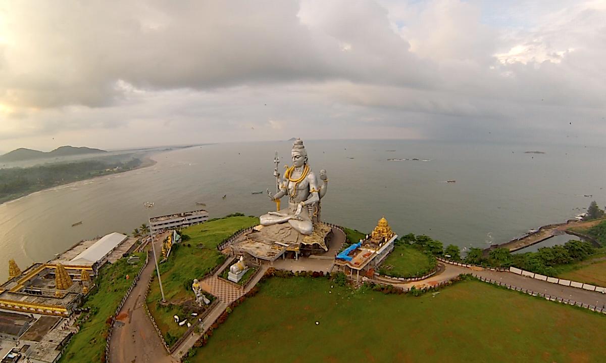 Shiva Statue by the Sea