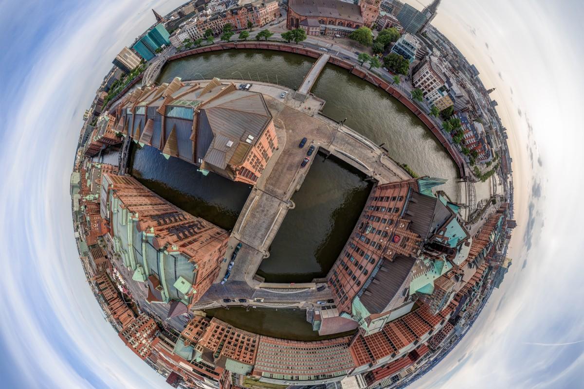 Hamburg Speicherstadt Little Planet HDR