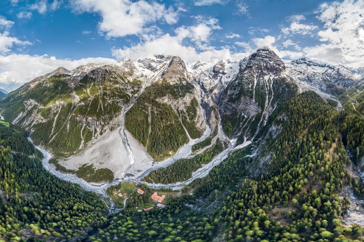 Ortler Alps Stelvio Pass HDR Panorama
