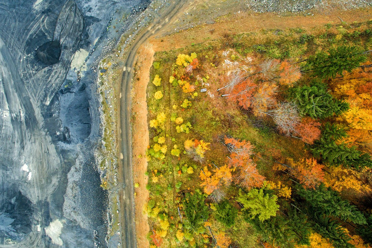 Autumn in the volcano quarry