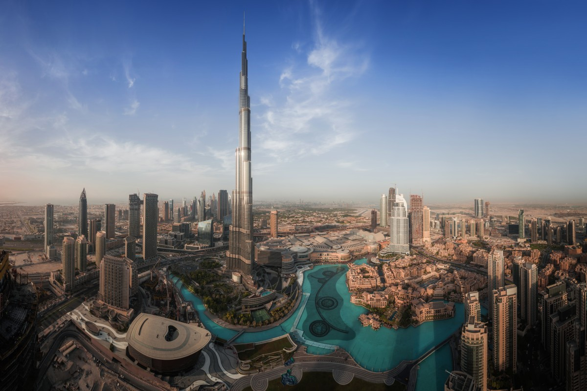 Drone Panoramic of Downtown Dubai