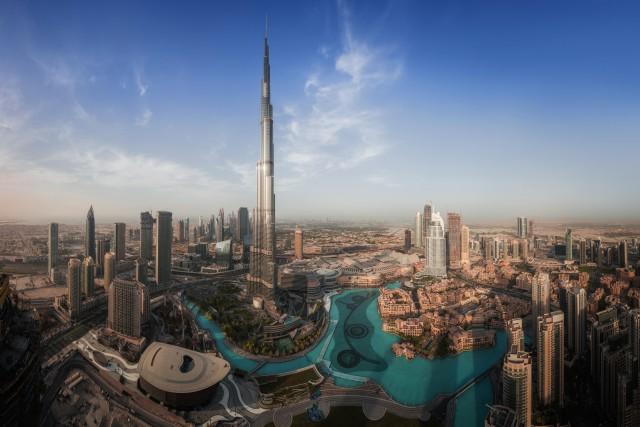 Drone Panoramic of Downtown Dubai