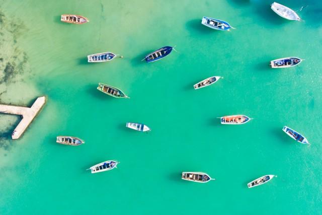Boats in Cap Malheureux