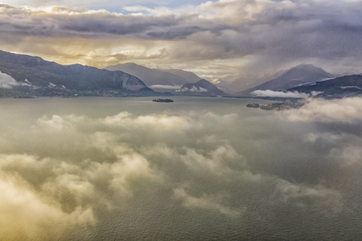 Flying above lake Maggiore