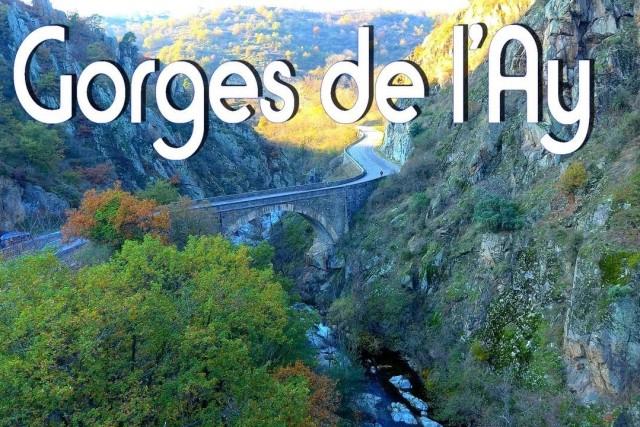 Les Gorges de l'Ay France drone Autel EVO